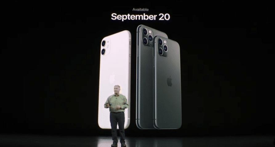 Erscheinungsdatum iPhone 11 Pro